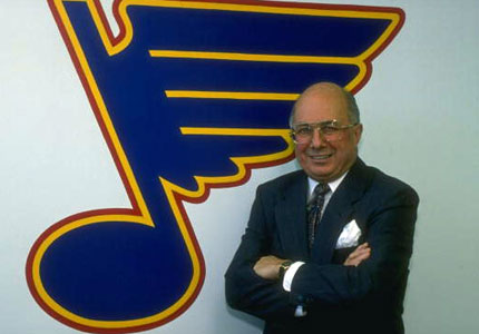 Ron Caron served as the St. Louis Blues' General manager from the 1983-84 to 1993-94 seasons and was interim GM in the 1996-97 season.